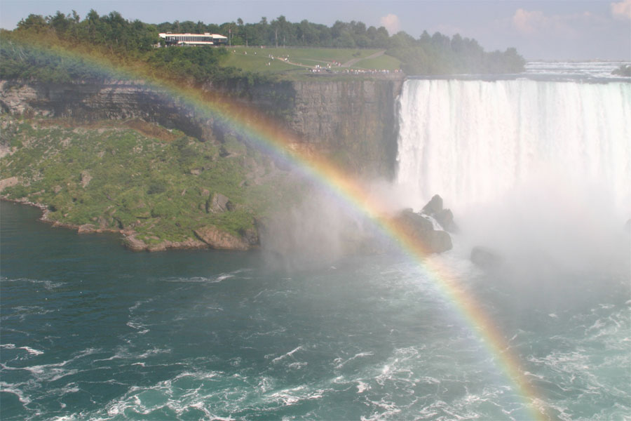 Picture of a Rainbow over Niagara Falls